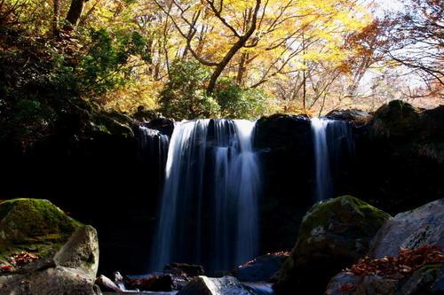 くじゅう 暮雨(くれさめ)の滝