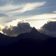 槍ヶ岳 夏の落日