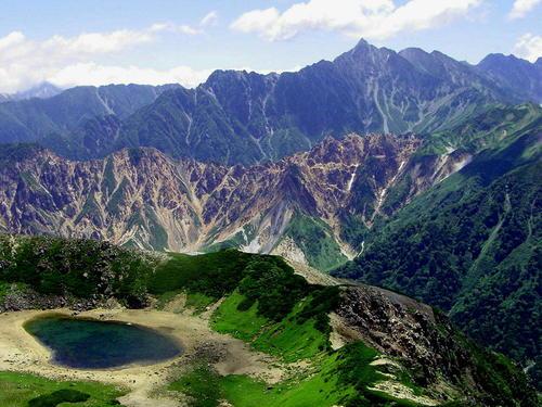 鷲羽の池と槍ヶ岳